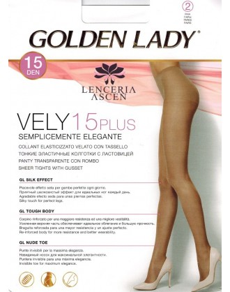 Panty Transparente 41N Vely 15 Pack 2 Golden Lady